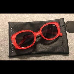Quay Australia Red Lulu Sunglasses